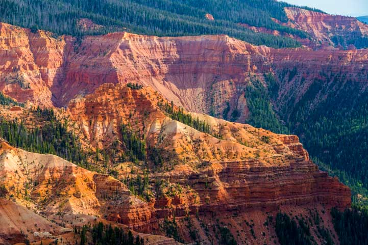 Red rocks Cedar Breaks National Monument Utah Golden Hour-min