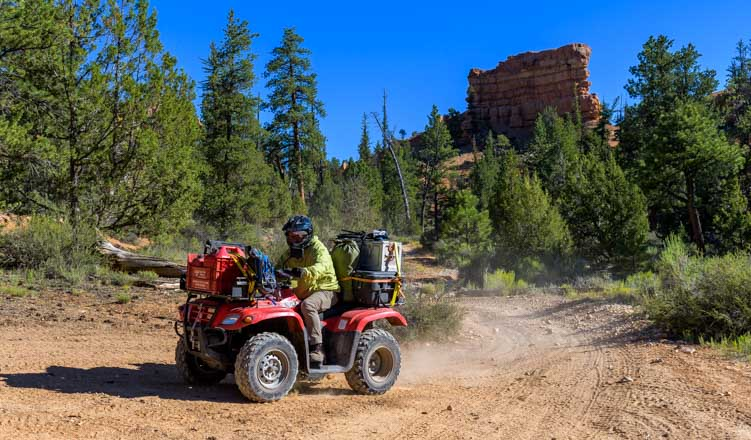 ATV on 300 mile journey on Paiute Trail and Casto Canyon Trail-min