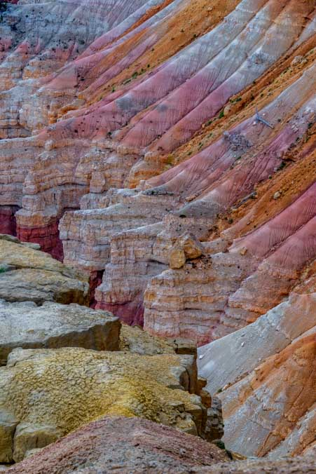 Inner light Cedar Breaks National Monument Utah pink orange and white cliffs-min