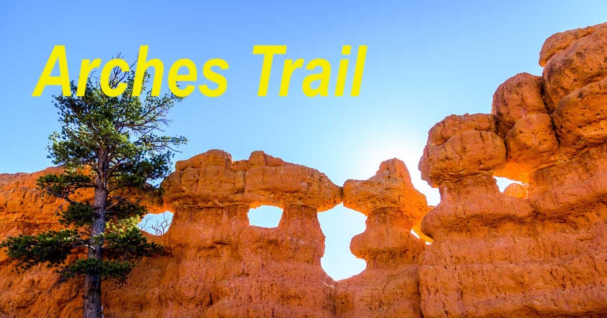 Arches Trail in Red Canyon Utah