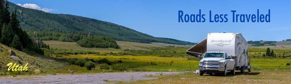 RV camping boondocking adventure in Utah