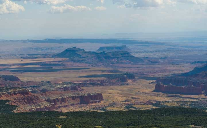 Overlook at Capitol Reef National Park from Thousand Lake Mountain Utah-min