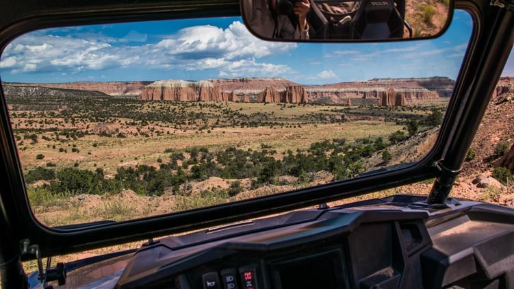 View from a RZR Cathedral Valley Capitol Reef National Park Utah-min