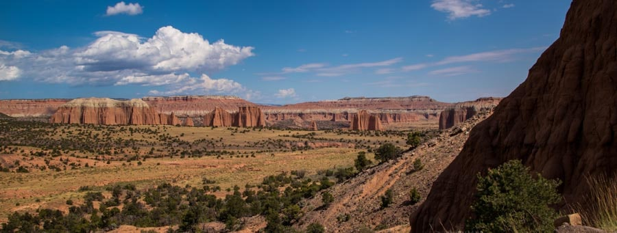 First glimpse Cathedral Valley Capitol Reef National Park Utah-min