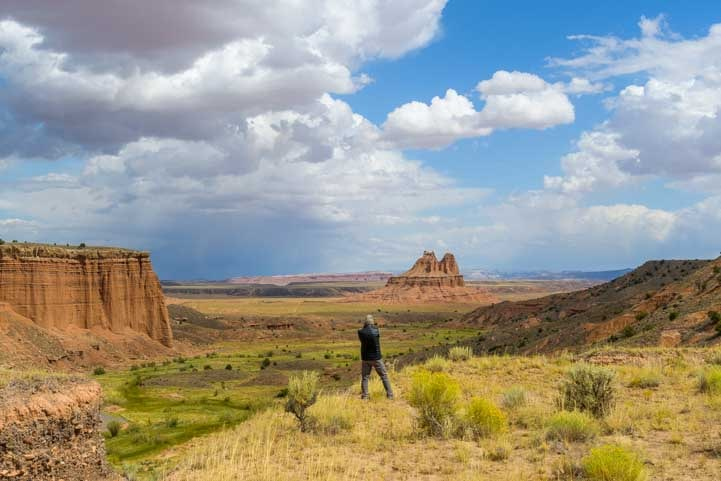 Photographing Capitol Reef National Park during backcountry drive-min