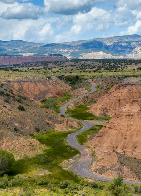 Backcountry road in Capitol Reef National Park Utah-min
