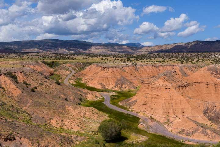 Pink sandstone hills in Capitol Reef National Park Utah-min