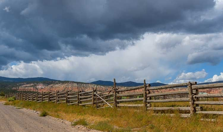 Storm clouds descend in Capitol Reef National Park Utah-min