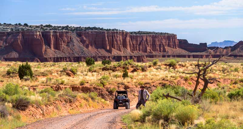 RZR side-by-side ride in Cathedral Valley Capitol Reef National Park Utah-min