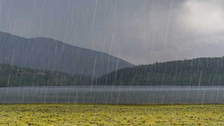 Hail storm at Fish Lake Utah-min