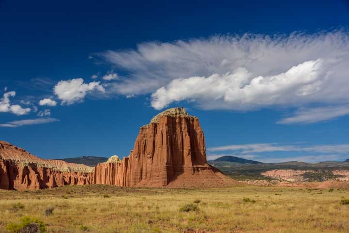 Pinnacle in Cathedral Valley Capitol Reef National Park Utah-min
