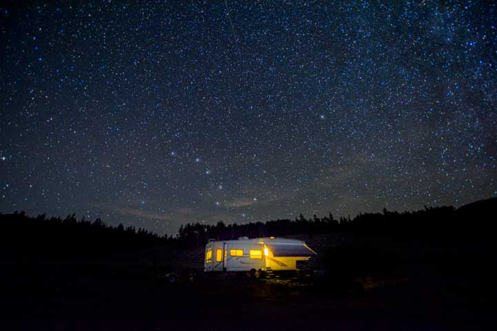 Big dipper over RV-min