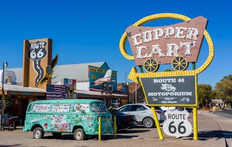 route 66 memorabilia Seligman Arizona-min
