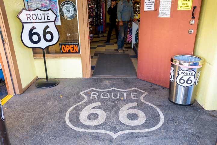 Route 66 store front Seligman Arizona-min