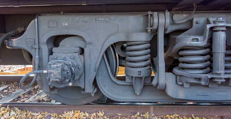 Train undercarriage Grand Canyon Railway-min