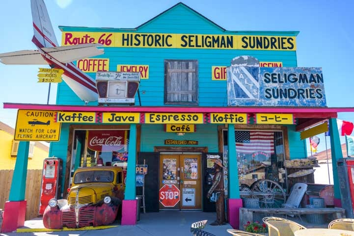 Historic Sundries Seligman Arizona on Route 66-min