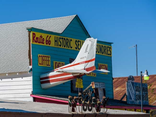 Route 66 relics Seligman AZ-min