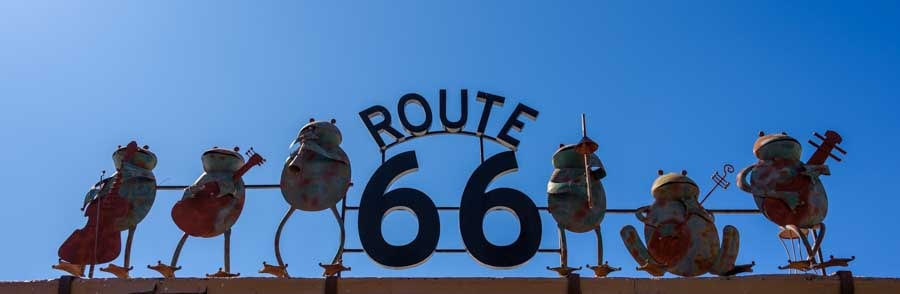 Route 66 sign Seligman Arizona-min