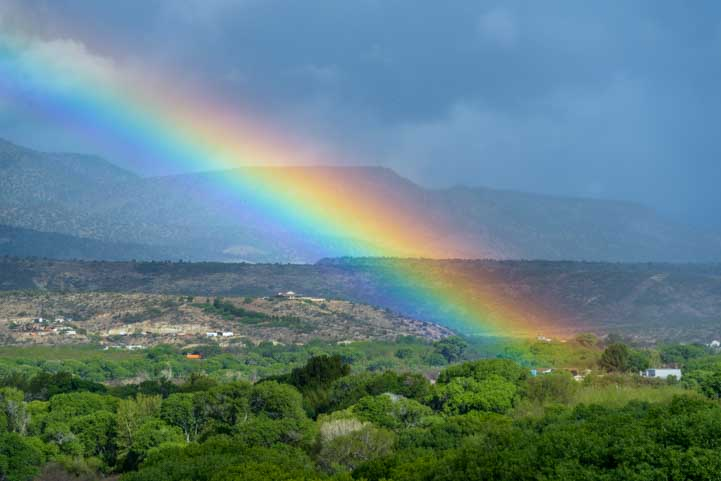 Rainbow over the landscape