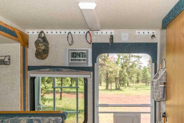 Key hooks inside RV camper