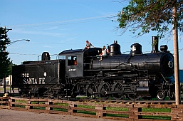Train engine Santa Fe City Park Chanute KS