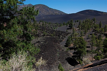 Cinder Hills Sunset Crater lava flow Flagstaff Arizona near Bonito Campground