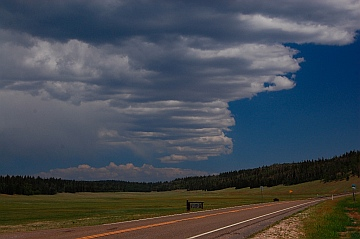 All American Road Route 67 Jacobs Lake AZ to North Rim Grand Canyon Arizona monsoon season from our RV
