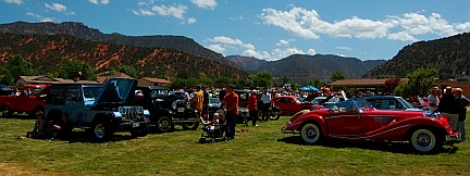 Antique car show at Iron Country Fair, Parowan, Utah