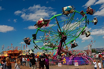 Rides at Iron Country Fair, Parowan, Utah