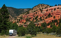 RV full time - Boondock site, Parowan UT in our fifth wheel RV.