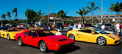 Ferrari and Lamborghini car club on Shelter Island