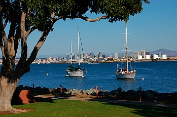 San Diego view from our RV