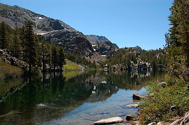 Fulltime RVing at Arrowhead Lake near Mammoth Lakes CA California