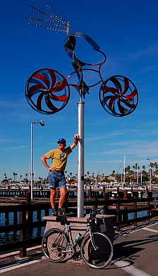 Bike sculpture Old Town San Diego CA