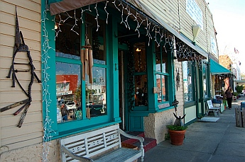 Storefronts in Apalachicola Florida