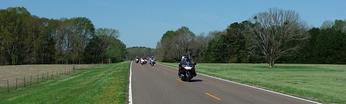 Motorcycle road tour on on Natchez Trace Parkway, Mississippi