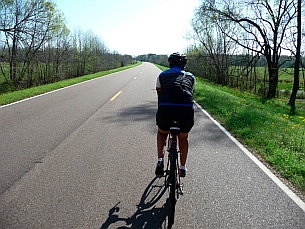 Cycling on Natchez Trace Parkway, Mississippi