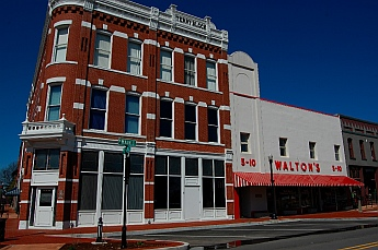 Sam Walton's first store in Bentonville, AR