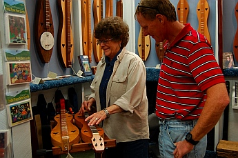 Feelin' Groovy at The Dulcimer Shoppe, Mountain View, AR