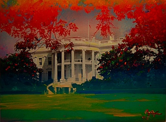 Peter Max painting White House