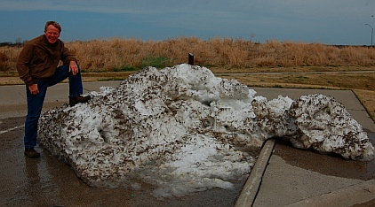 remnants of a blizzard Chanute Kansas