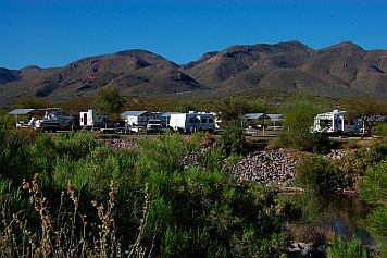 Campground at Roosevelt Lake