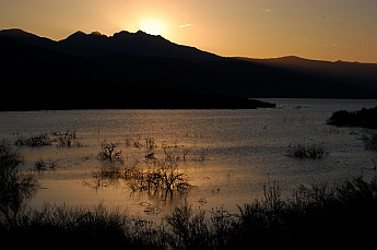 Roosevelt Lake at sunset