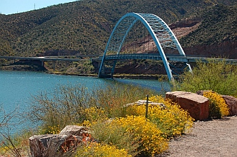 Roosevelt Lake Arizona bridge to Tortilla Flats Arizona