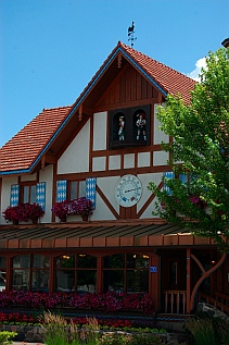 The German immigrant town of Frankenmuth Michigan