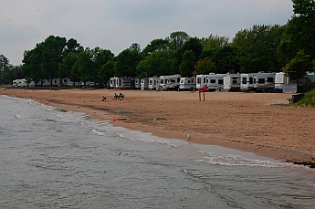 East Tawas beach RV Park Michigan