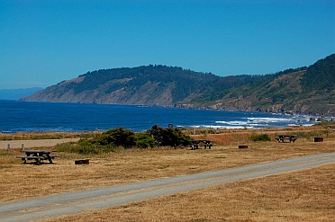 Spacious campsites at Westport-Union State Park on the northern CA California coast