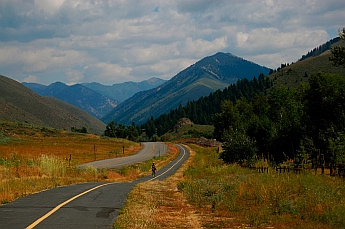 Paved bike path near Elkhorn Idaho