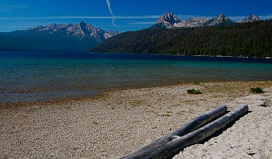 Redfish Lake Idaho beach