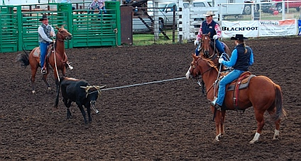 Roping at the Helmville Rodeo